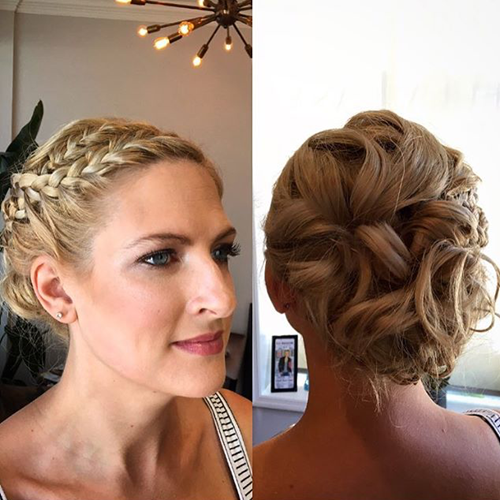 wedding hair braided updo
