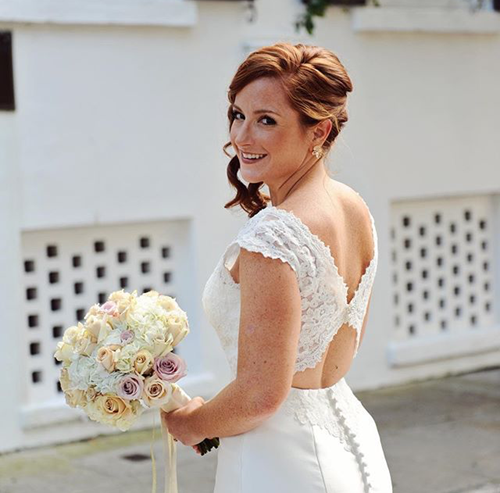 wedding hair relaxed updo