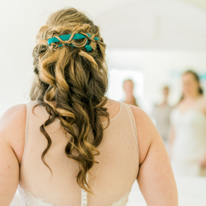 wedding hair something blue